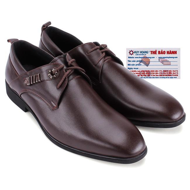 Giày nam da bò thời trang màu nâu H