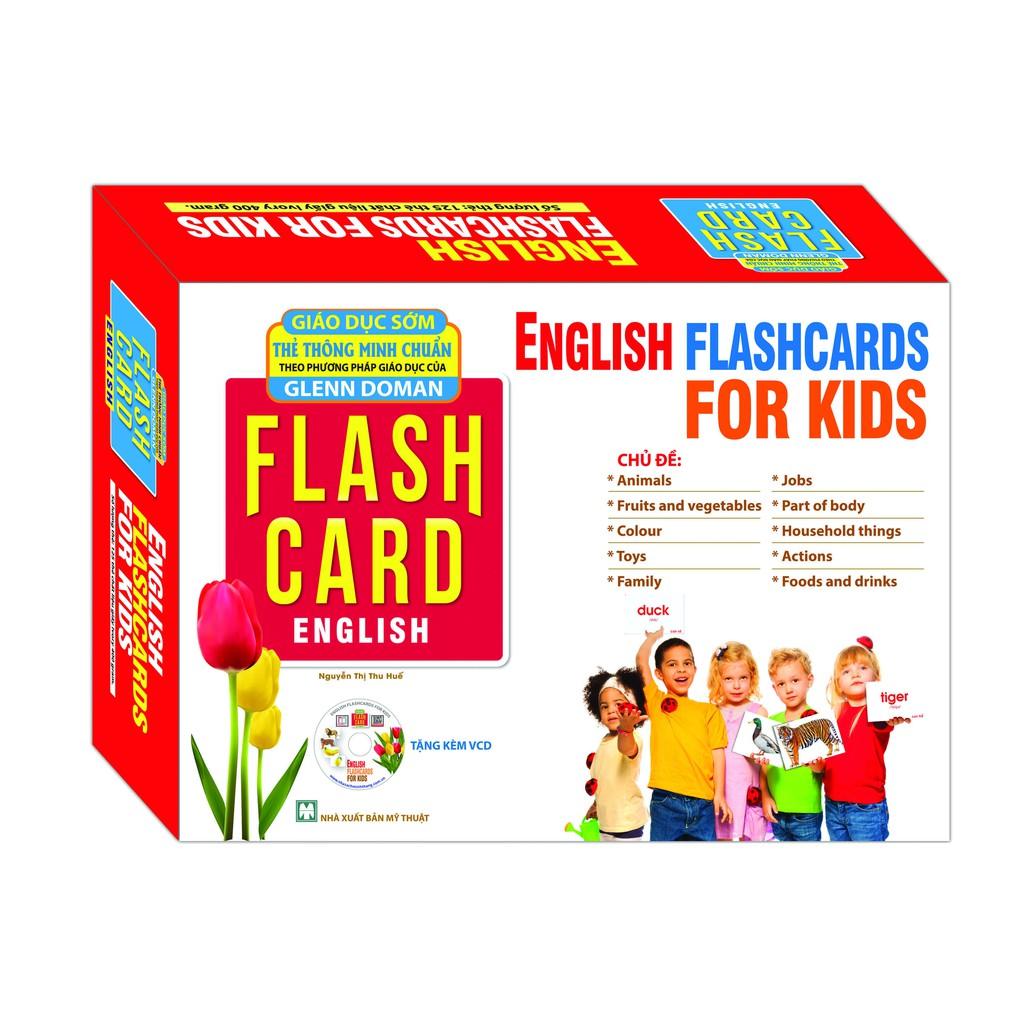 Sách - English Flashcards for kids (Bộ thẻ Tiếng Anh)- Dạy Trẻ Theo Phương Pháp Glenn Doman
