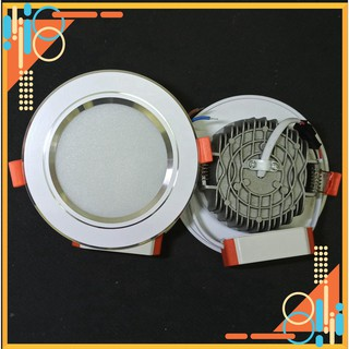 (TinTin) Đèn Led âm trần viền bạc 3 chế độ màu – Bảo hành 2 năm