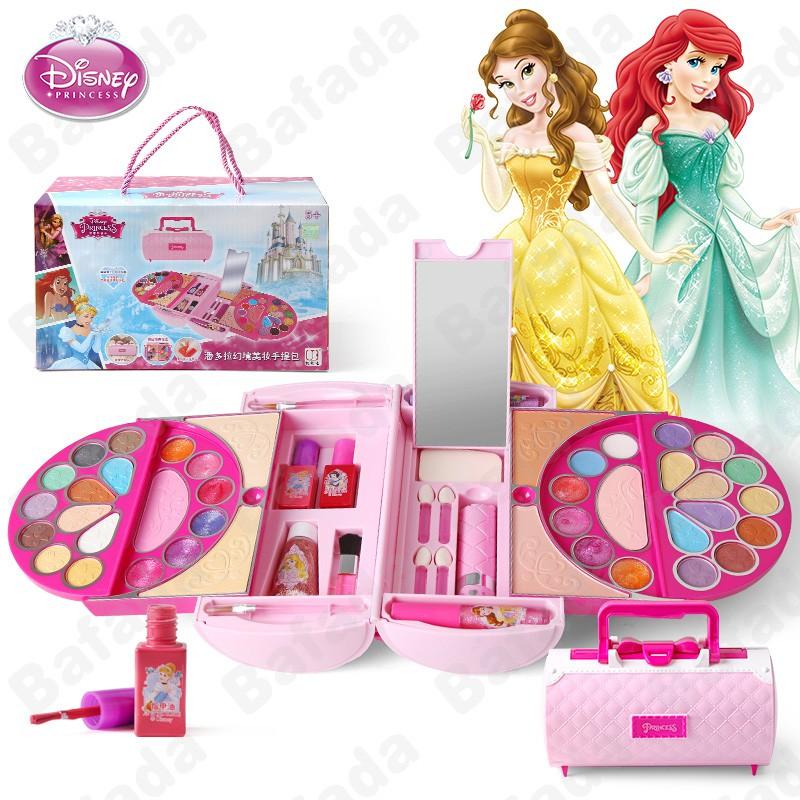 Bafada 53Pcs Cosmetic Kit For Disney Fantasy Beauty Case Makeup Set- Safety Tested- Non Toxic,Girls Toy Make Up Kits,Pretend Play Kids Beauty Salon.Children makeup toys