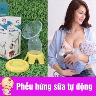 Phếu Cốc hứng sữa silicon full hộp ( đủ bộ cả nắp và đế ) thumbnail