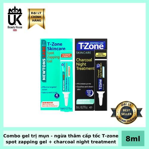 [Mã COSHOT24 hoàn 8% xu đơn 250K] Combo gel trị mụn - ngừa thâm cấp tốc T-Zone, hiệu quả sau 4 tiếng 8ml/ tuýp