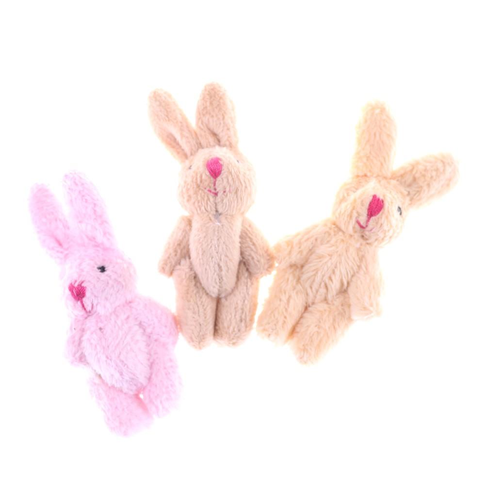 [warmhome]Cute Soft Mini Joint Rabbit Pendant Plush Bunny Toy Doll DIY Key Chain Gifts