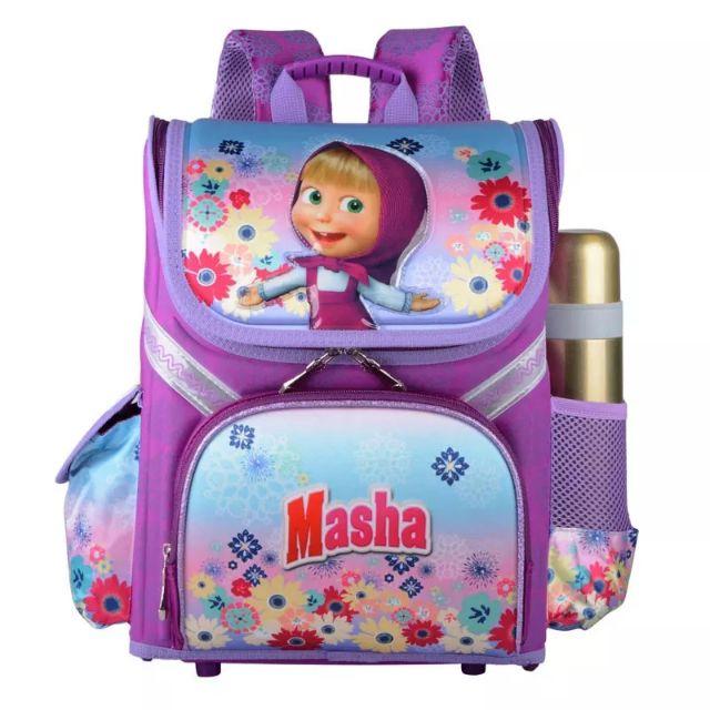 Balo Masha Chống Gù Lưng dạng Hộp cho học sinh lớp 1-5