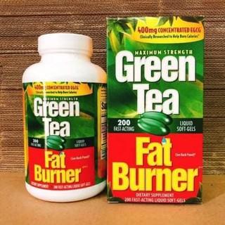 VIÊN UỐNG GIẢM CÂN TỪ TRÀ XANH GREEN TEA FAT BURNER HỘP 200 VIÊN NHẬP KHẨU CHÍNH HÃNG thumbnail