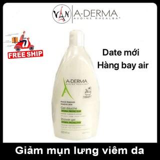 ADerma sữa tắm A-Derma ngăn mụn lưng, giảm lỗ chân lông 500ml mẫu mới