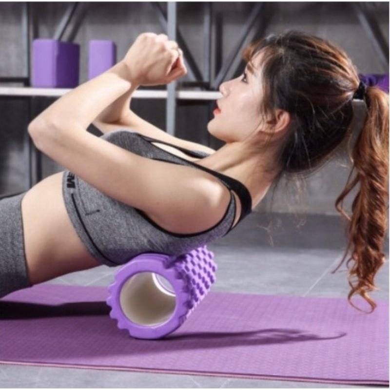 Con Lăn Massage Phục Hồi Cơ Foam Roller Tập GYM | Yoga (tặng video giãn cơ)
