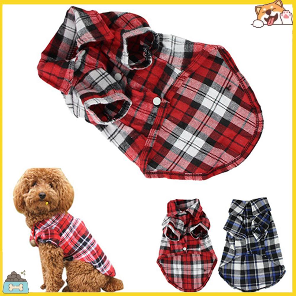 Áo kẻ sọc vuông đáng yêu dành cho chó cưng size XS S M L
