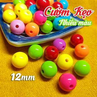 SIÊU ĐẸP – 50gr Hạt Cườm Kẹo Bóng Cao Cấp 12mm nhiều màu Làm Vòng, Trang trí Thủ công