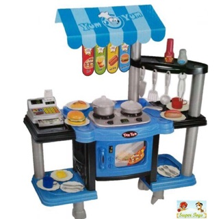 Bộ đồ chơi Nhà bếp, bán thức ăn nhanh cỡ lớn có đèn, có nhạc cho các bé