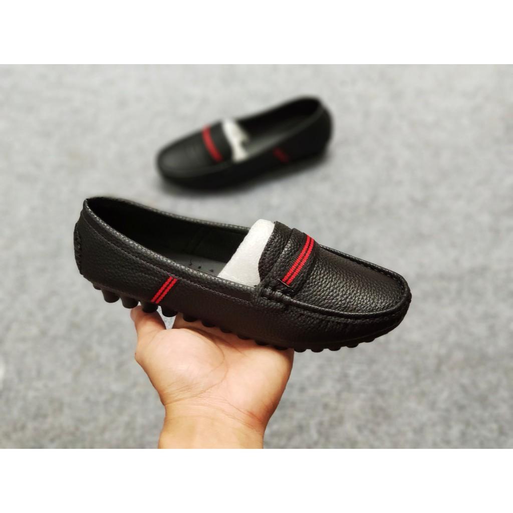 (form nhỏ tăng 1 size) Giày mọi nữ giày lười nữ giày bệt nữ viền đỏ xinh xắn DA TỐT HÀNG ĐẸP