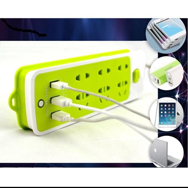 Combo 10 Ổ cắm điện 6 phích cắm 3 cổng usb (xanh) - 2710583 , 542717567 , 322_542717567 , 460000 , Combo-10-O-cam-dien-6-phich-cam-3-cong-usb-xanh-322_542717567 , shopee.vn , Combo 10 Ổ cắm điện 6 phích cắm 3 cổng usb (xanh)