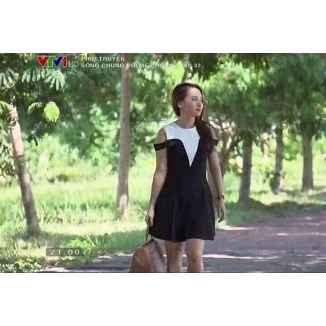 Váy Mình Vân đen trắng