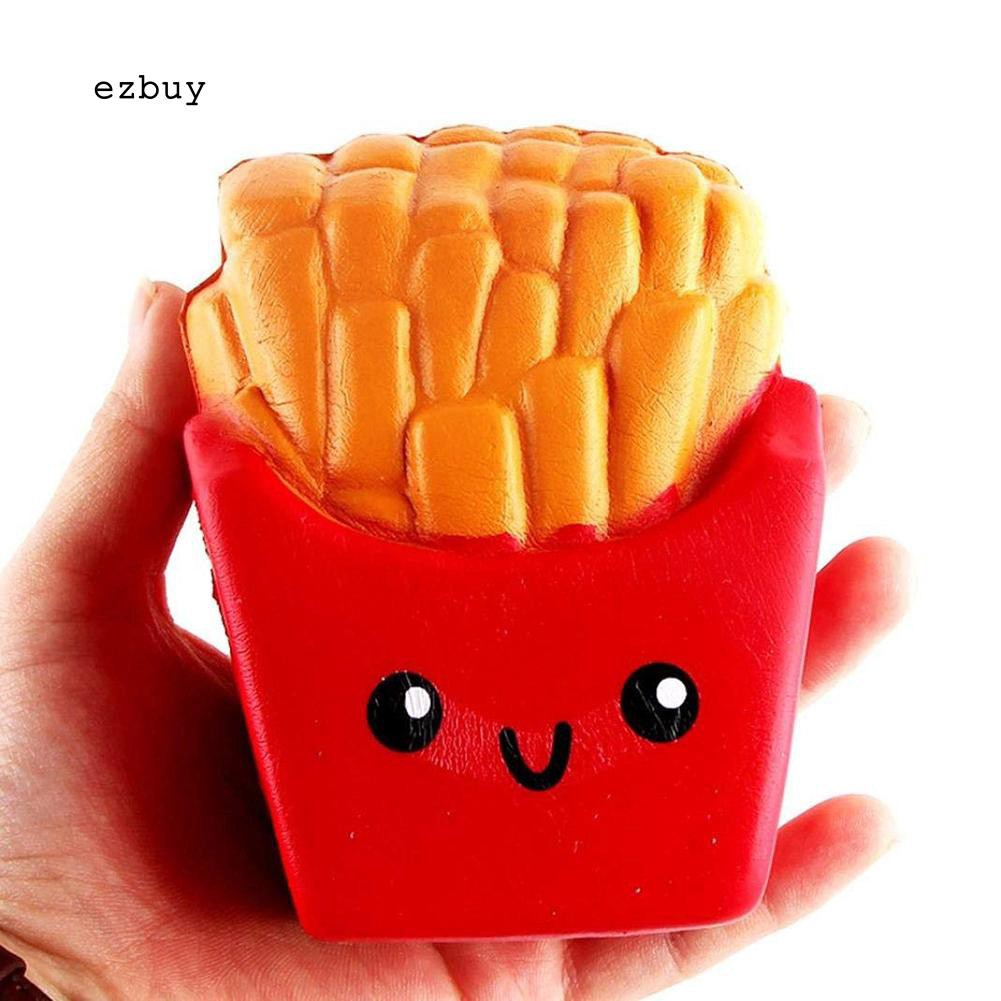 【EY】Scented French Fries Squishy Slow Rising Stress Reliever Kids Adult Squeeze Toys XHENGFENG