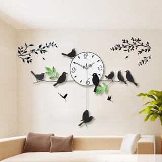 Đồng hồ trang trí chim non đậu cành cây