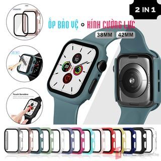 Ốp Bảo Vệ Apple Watch Mặt Kính Cường Lực Dành Cho Series 3/2/1 38mm 42mm Chống Trầy Sước Va Đập Bể Vỡ Màn Hình