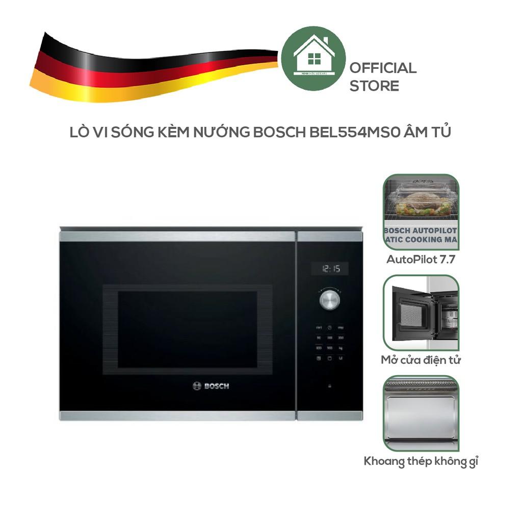 Lò Vi Sóng Kèm Nướng Bosch BEL554MS0 Âm Tủ - Nhập Khẩu Từ Đức
