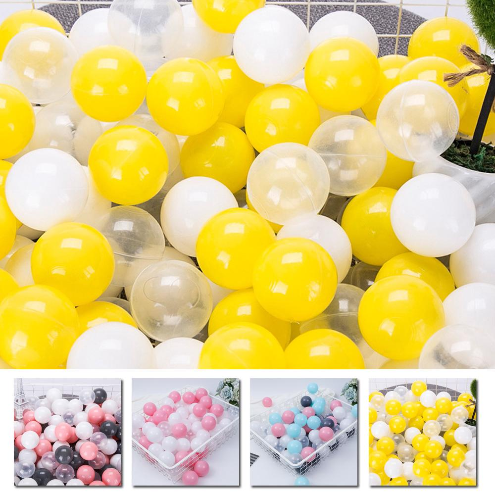 Childrens Plastic Play Balls for Pits Pool Bouncy Castle Multicolour Toys Gift J
