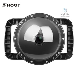 [silf]SHOOT 6inch Dual Handheld Waterproof Dome Port Diving Housing Case Compatible with DJI Osmo Action