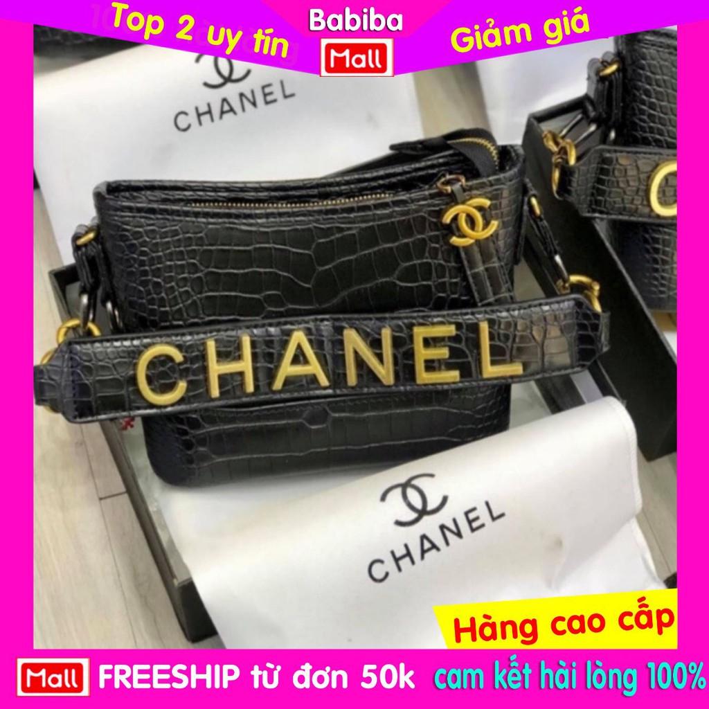 túi xách tay, đeo chéo chính hãng in chữ đồng đặc channel bán giá sốc SIZE 22