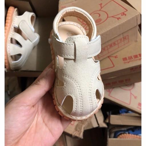 [FREESHIP TỪ 99K] Dép sandal tập đi đế cao su mềm cho bé trai 0 2