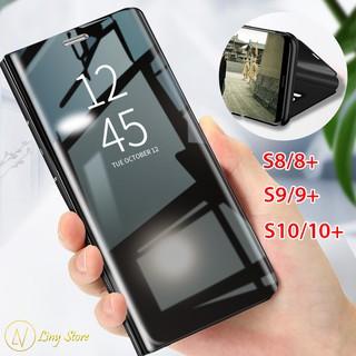 Bao da tráng gương cho Samsung Galaxy S8 S8 Plus S9 S9 Plus S10 S10 Plus