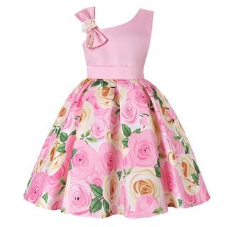 Đầm dự tiệc phối hoa phong cách công chúa cho bé gái