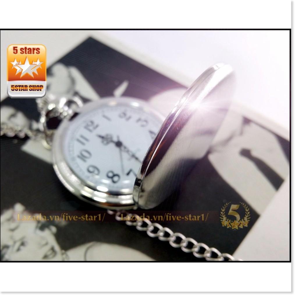 (FREE SHIP) Đồng hồ quả quýt INOX trơn : Thiết kế hoài cổ  - Lịch Sự - Quý Phái