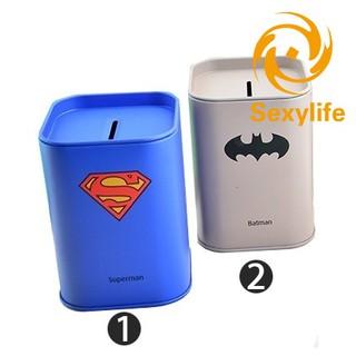 SL♣ Pencil Superhero Pencil Box Kids Coin Bank Home Office Decor