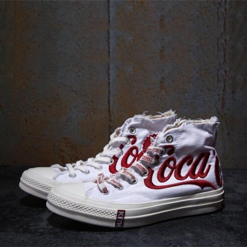 56ca4b32 Original Kith x Coca-Cola X CONVERSE รองเท้าผ้าใบลำลองสำหรับผู้ชายผู้หญิง