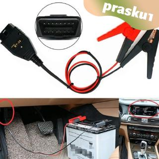 OBDII Car ECU Memory Saver Emergency Power Supply Battery Clips Black Red