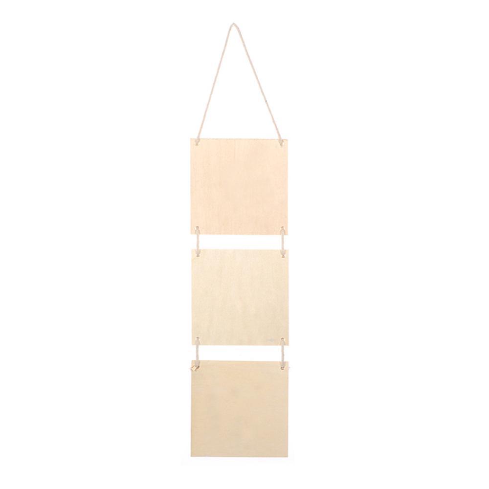 【ready stock】♛ Kid Mini Blackboard Wooden DIY Painted Tool Creative Decoration Pendant