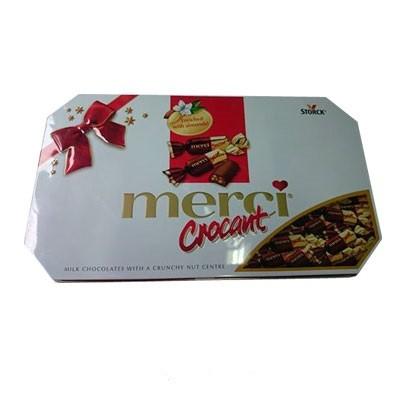 Kẹo Sô cô la Merci crocant 375g ( hộp sắt )