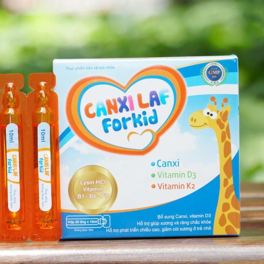 Bổ sung Canxi Phát triển chiều cao cho trẻ ❤️CHÍNH HÃNG👍 Giảm còi xương - Canxi Laf For Kid (20 ống)