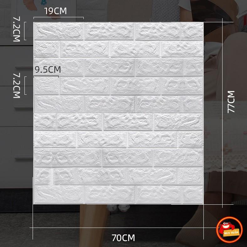 Giấy xốp dán tường giả gạch 3D - Khổ lớn 70x77cm (XDT04)