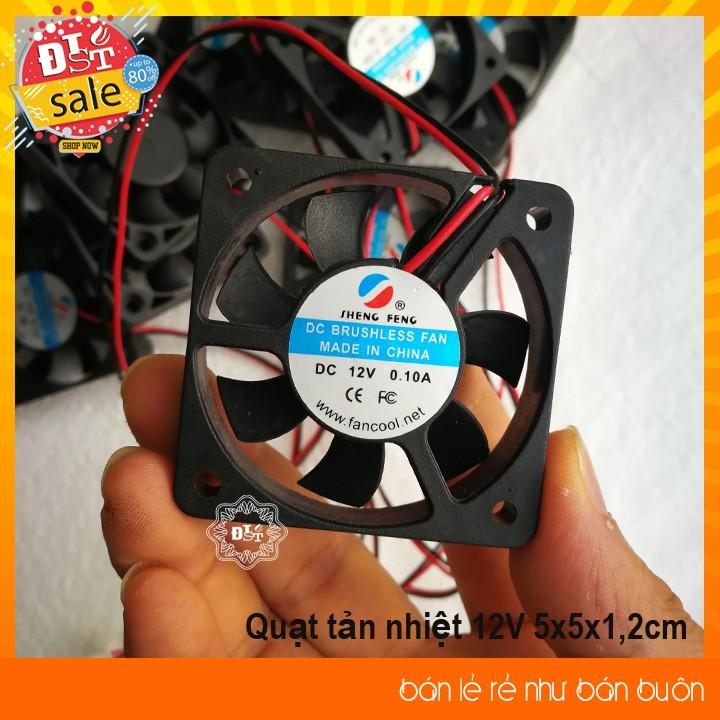 Quạt tản nhiệt 12V 5x5x1,2cm - 1 chiếc