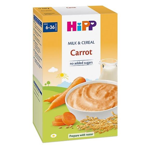 [Mã MKBMHIPP12 giảm 40000 đơn 300000] Bột Dinh dưỡng sữa & rau củ - Cà rốt HiPP