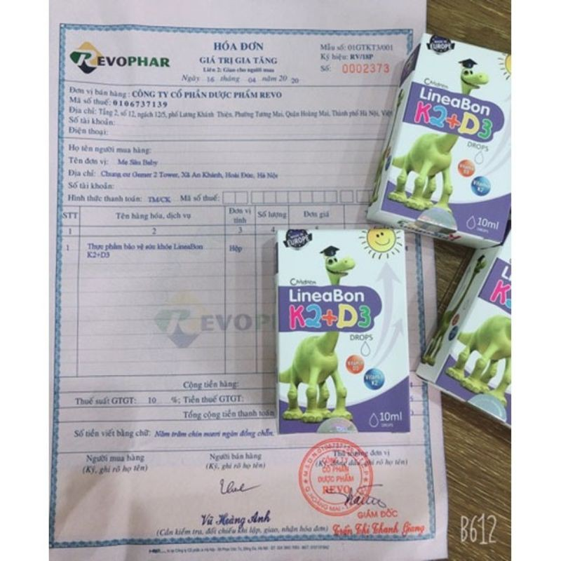 LineaBon  K2+D3 - Bổ sung vitamin K2 D3 drops Tăng cường hấp thu