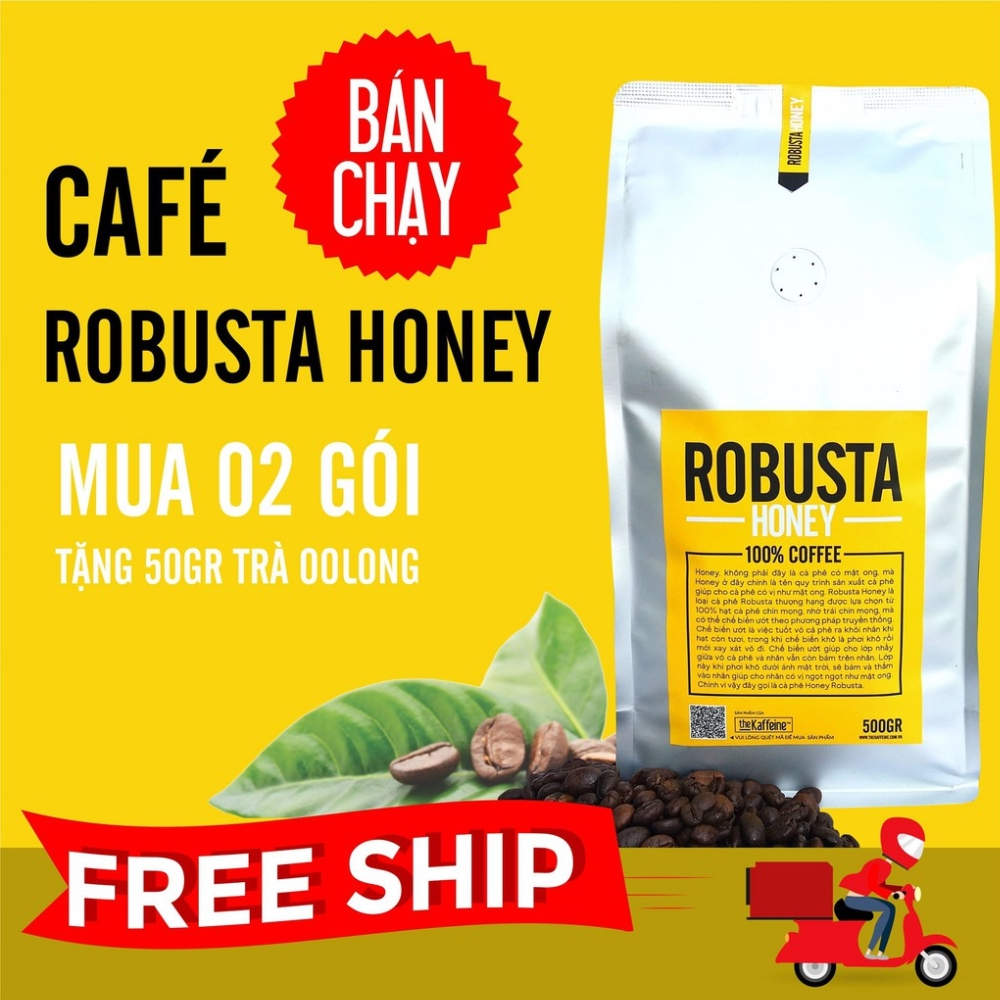 Cà phê Robusta Honey 500g - The Kaffeine