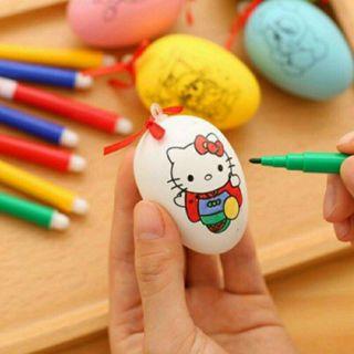 Tranh trứng tô màu nghệ thuật kèm 4 bút lông