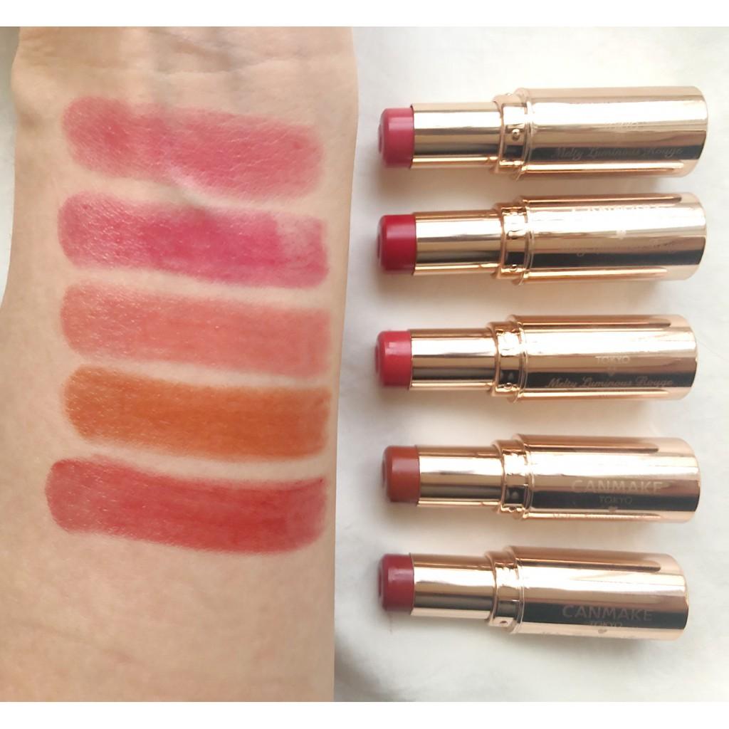 [Đủ màu] Son môi Canmake Melty Luminous Rouge Nhật Bản
