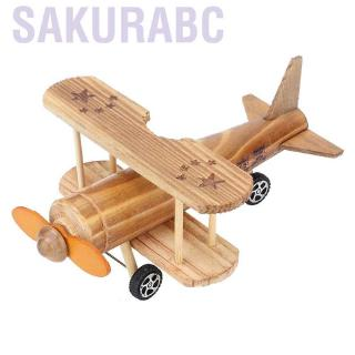 Sakurabc Fighter Plane Wooden Puzzle Toy Wood DIY Assembling Education Construction Model for Boy Girl