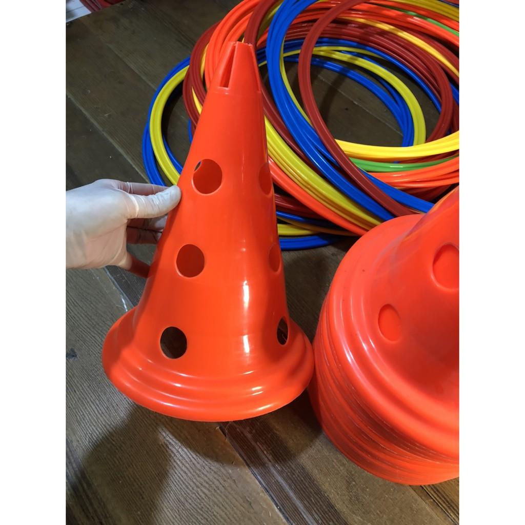 Nấm tập chiến thuật, Nấm lỗ loại 30F Marker, cone chơi thể thao Bóng Đá