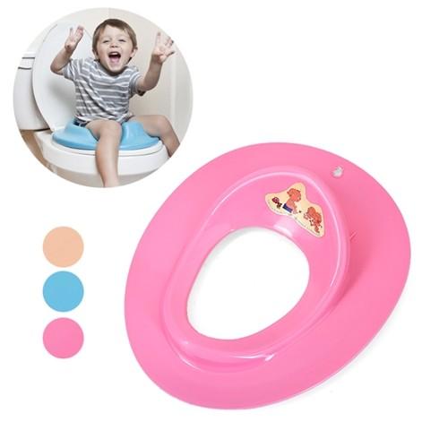 mvdv Ghế ngồi toilet tiện dụng cho bé màu xanh hồng