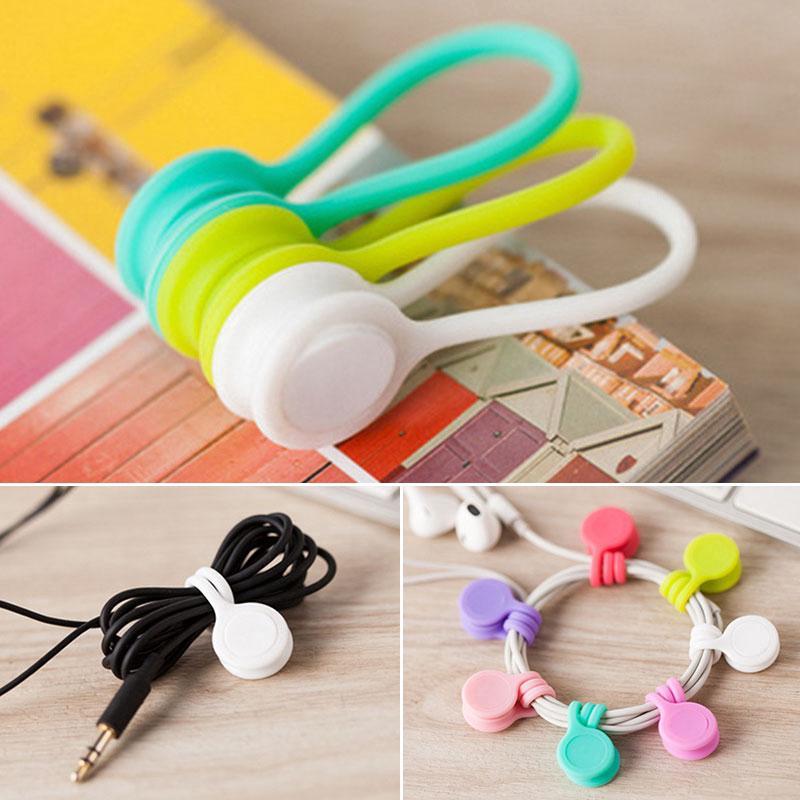Set 3 dây silicone từ tính nhiều màu chuyên dụng buộc dây tai nghe gọn gàng