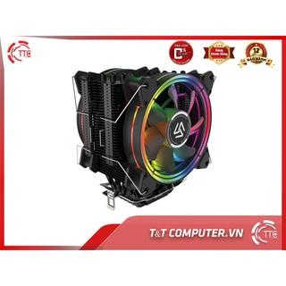Tản nhiệt khí CPU ALSEYE H120D cao cấp ống đồng 2 fan led RGB tương thích AMD INTEL new 100%