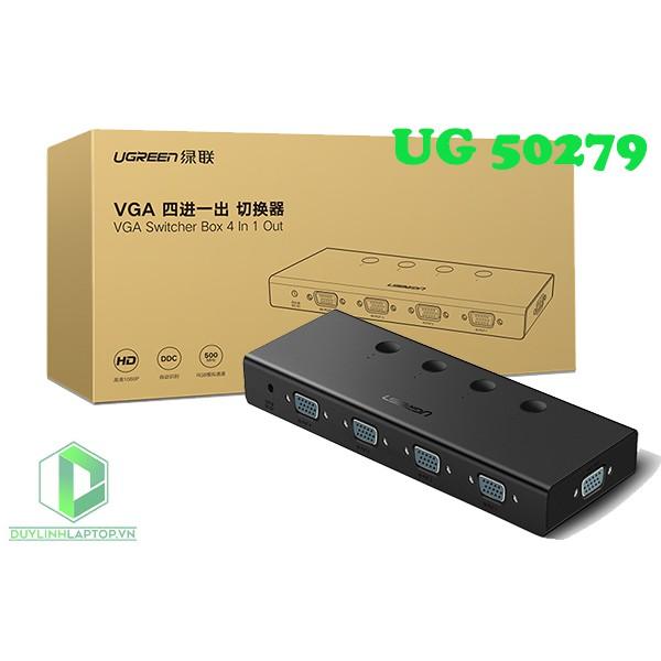 Bộ Gộp VGA 4 Vào 1 ra Chính Hãng Ugreen 50279 CM153 (băng thông 500MHz)