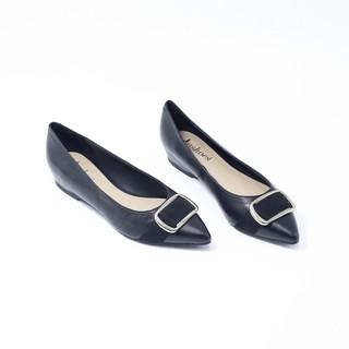 Giày Búp Bê Mũi Nhọn Phối Nơ Da Tự Nhiên Evashoes - Eva0021D thumbnail