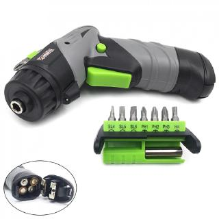 Mini Electric Screw Driver Drill with LED Light and 7 Bit