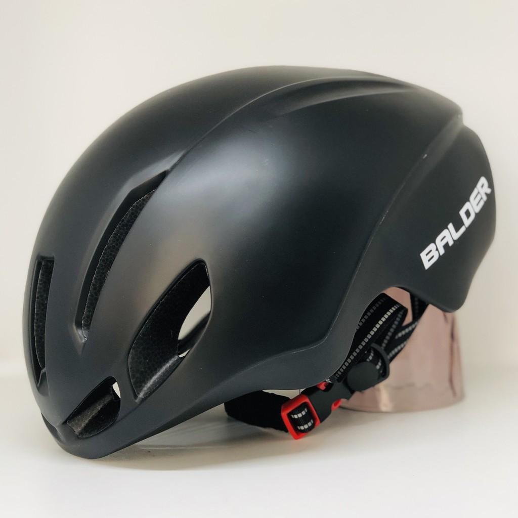 Mũ xe đạp thể thao BALDER B79 cao cấp ĐEN NHÁM